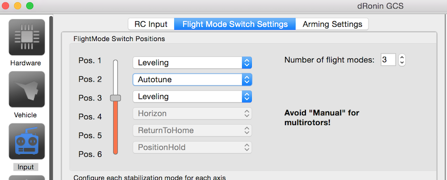 Flight Mode Configuration